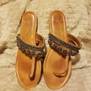 Jessica Simpson Beaded Flat Sandals